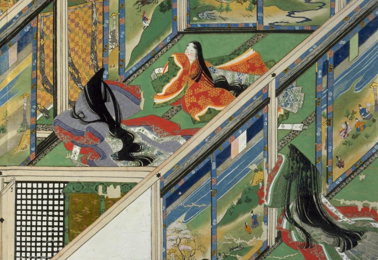鎌倉時代の絵巻物『春日権現験記』より。(板橋貫雄による明治3年の模写 国会図書館所蔵)